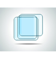 Glass squares vector image