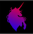 graphic unicorn silhouette vector image vector image