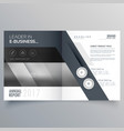 gray bi fold business brochure design template vector image vector image