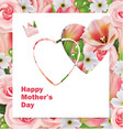 happy mothers day floral background vector image vector image