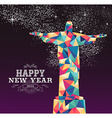 Happy new year 2016 brazil color triangle hipster vector image vector image