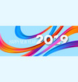 happy new year 2019 acrylic banner design vector image vector image