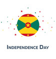 independence day of grenada patriotic banner vector image vector image