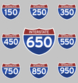 INTERSTATE SIGNS 150-950 vector image vector image