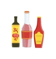 Ketchup Soya And Hot Sauce Set Of Pizza vector image