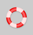 lifebuoy isolated on white background vector image vector image