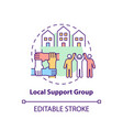local support group concept icon vector image