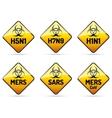 MERS SARS H5N1 Biohazard virus sign vector image vector image