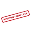 Mission Complete Text Rubber Stamp vector image vector image