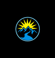 mountain sun nature abstract logo vector image vector image