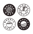 Noodle cafe badges vector image