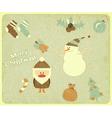 Old Christmas postcard vector image vector image