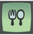outline fork and spoon icon Modern infographic vector image