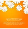 Paper flower postcard vector image vector image