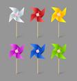 Paper pinwheels vector image