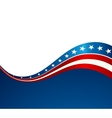 Patriotic wave background vector image vector image