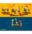 People In Restaurant Banner vector image