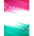 pink and turquoise glowing stripes abstract vector image vector image