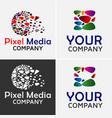 pixel media logo template vector image vector image
