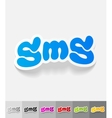 realistic design element sms message vector image vector image
