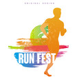 run fest original gesign colorful poster template vector image vector image