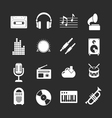 Set icons of music and sound vector image vector image