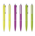 Set of pens vector image