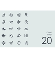Set of wind icons vector image