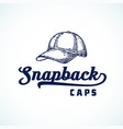 snapback caps abstract sign symbol or logo vector image vector image