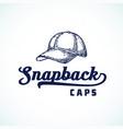 snapback caps abstract sign symbol or logo vector image