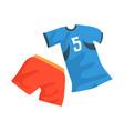 sports uniform handball player shirt vector image