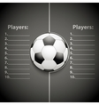 Statistics Template of Football vector image vector image