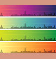 toulouse multiple color gradient skyline banner vector image