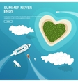 Tropical island Summer vector image