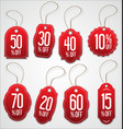 vintage style red sale tags design collection