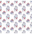 Volunteer seamless pattern vector image