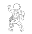 walking and cheering astronaut in vector image vector image