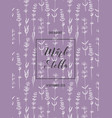 wedding invitation with lavender flowers vector image