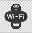 wifi zone internet sign icon in flat style wi-fi vector image vector image