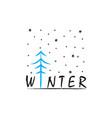 winter doodle vector image