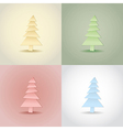 Winter theme set of christmas trees vector image vector image