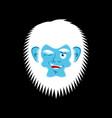 yeti winks emoji abominable snowman cheerful vector image