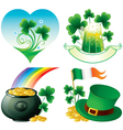 saint patrick day icons vector image