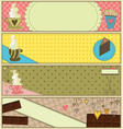 Sweet Coffee and Dessert Banners vector image