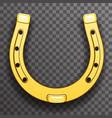 gold metal horseshoe luck symbol fortune talisman vector image
