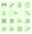 14 iron icons vector image vector image