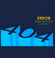 404 error page not found in 3d style graphic vector image vector image