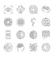 Artificial intelligence icon set for