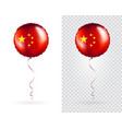 balloons in as china national flag vector image