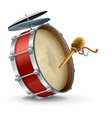 bass drum instrument vector image